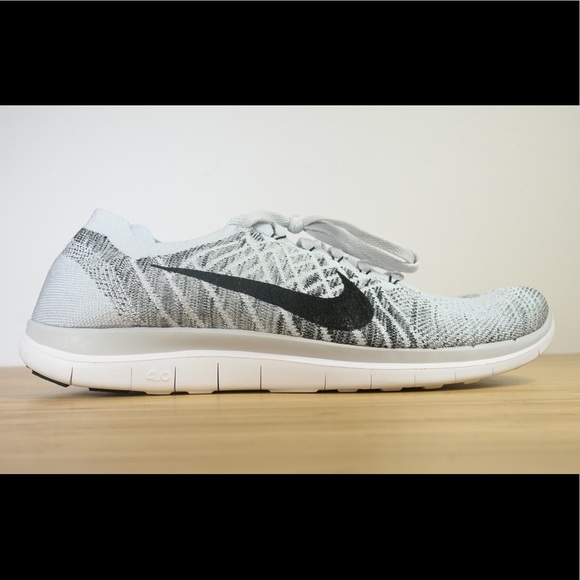 the latest e0ccf 45e55 Nike Free 4.0 Flyknit Pure Platinum Mens Size 11